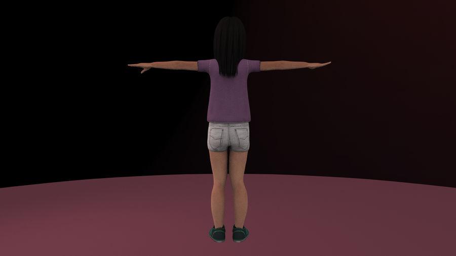 Genç kız royalty-free 3d model - Preview no. 9