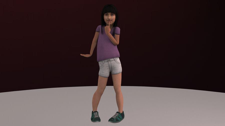 Genç kız royalty-free 3d model - Preview no. 2