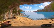 Dentro de la cueva de la playa modelo 3d