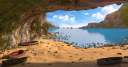 Inside Beach Cave 3d model