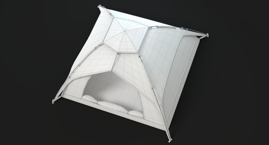 Camping Tent royalty-free 3d model - Preview no. 18
