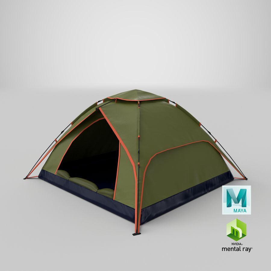 Camping Tent royalty-free 3d model - Preview no. 20