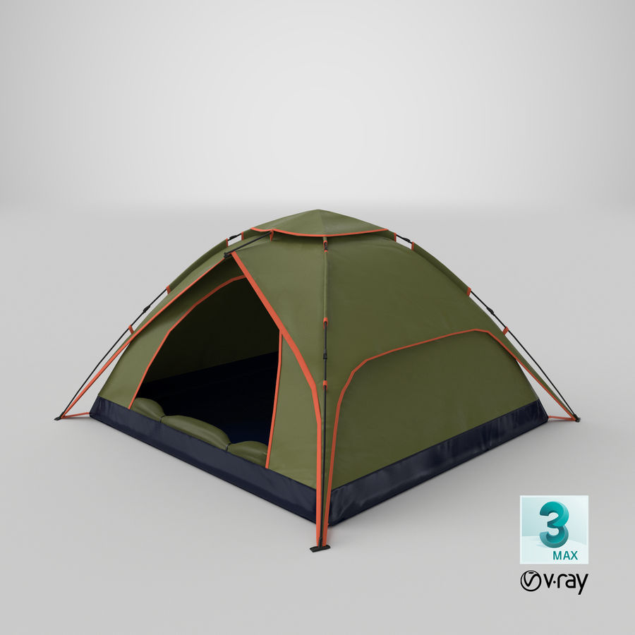 Camping Tent royalty-free 3d model - Preview no. 21