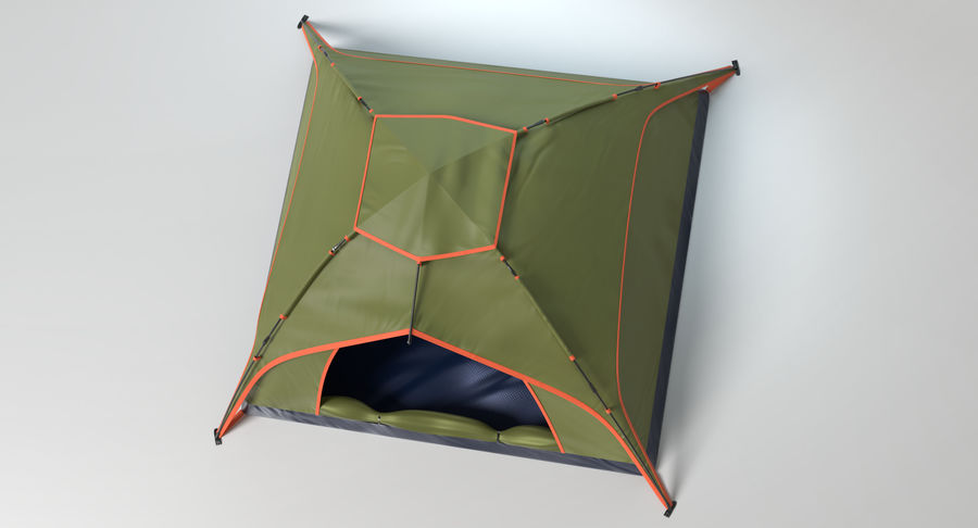 Camping Tent royalty-free 3d model - Preview no. 5