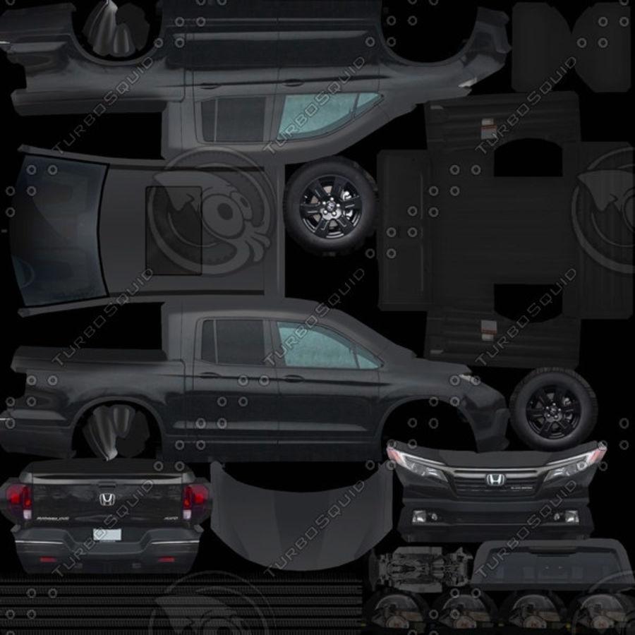 Honda Ridgeline 2017 royalty-free 3d model - Preview no. 9