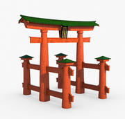 Torii Kapısı, Japonya. 3d model