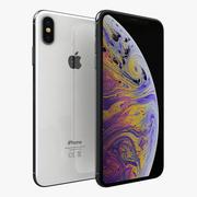 iPhone XS Max Prata 3d model