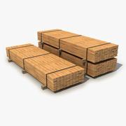 Industrial Lumber Package 3d model