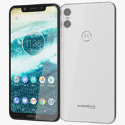 Motorola One White 3d model