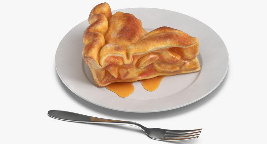 Ломтик яблочного пирога royalty-free 3d model - Preview no. 8