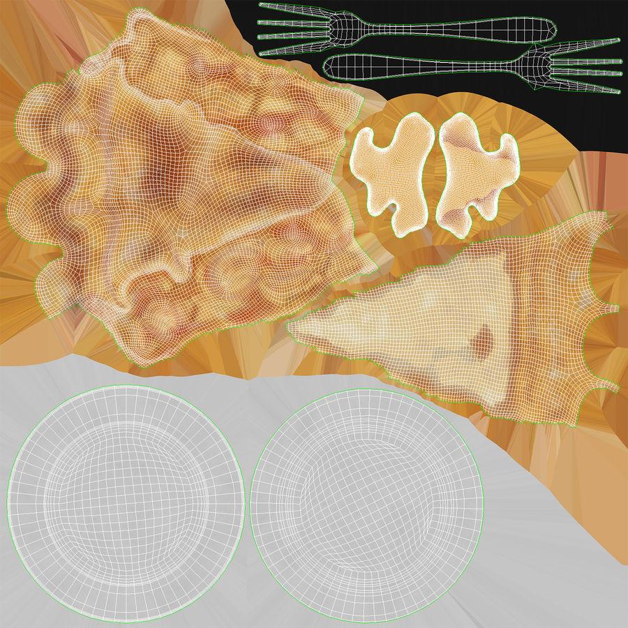 Ломтик яблочного пирога royalty-free 3d model - Preview no. 19