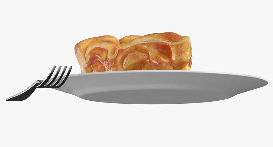 Ломтик яблочного пирога royalty-free 3d model - Preview no. 9