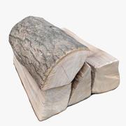 木の丸太02 3d model