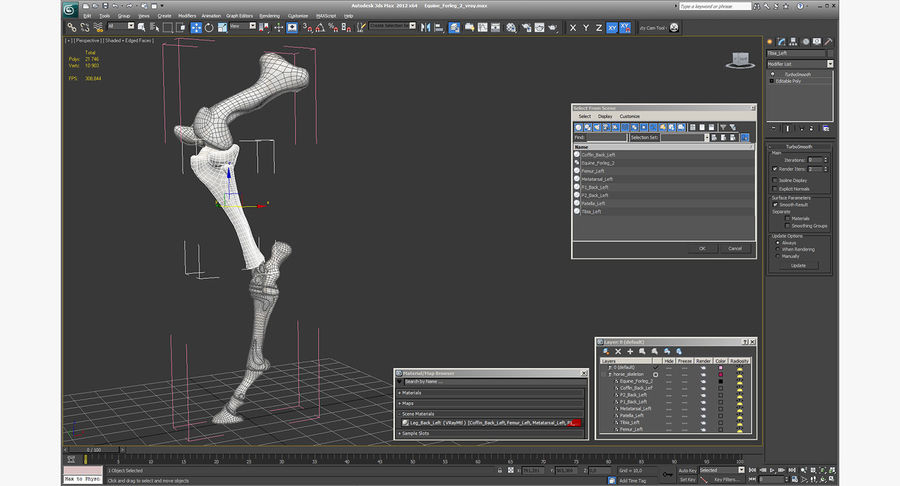 Horse Front Leg 2 3D Model royalty-free 3d model - Preview no. 14