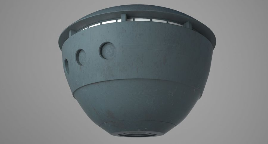 UFO royalty-free 3d model - Preview no. 8