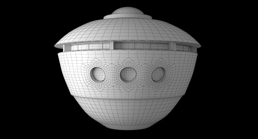 UFO royalty-free 3d model - Preview no. 10