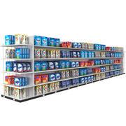 Diskmaskin Tvättmedel Shoppinghylla 3d model