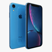 iPhone XR Azul modelo 3d