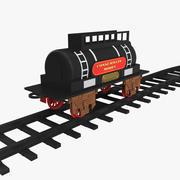 Игрушечный Поезд Танк с Рельсами 3D Модель 3d model