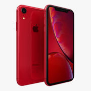 iPhone XR rojo modelo 3d