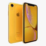iPhone XR Amarillo modelo 3d