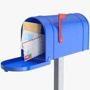 Domowa skrzynka pocztowa z kopertami 3d model