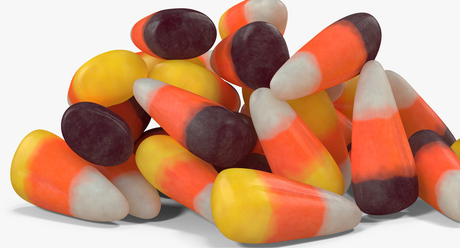 Candy Corn 5 royalty-free modelo 3d - Preview no. 6
