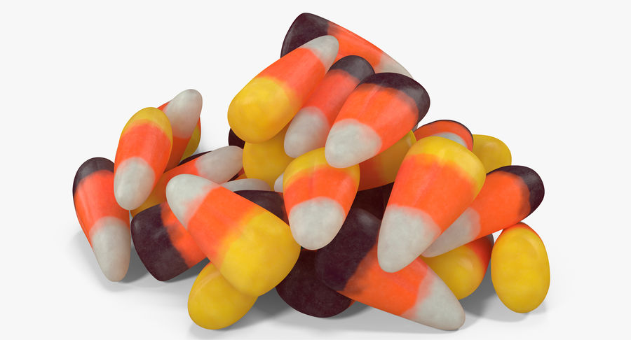 Candy Corn 5 royalty-free modelo 3d - Preview no. 4
