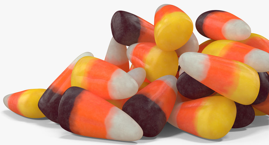 Candy Corn 5 royalty-free modelo 3d - Preview no. 7