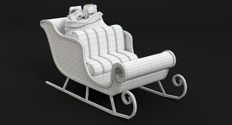 Santa Sleigh 2 royalty-free 3d model - Preview no. 12