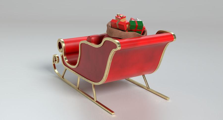 Santa Sleigh 2 royalty-free 3d model - Preview no. 7