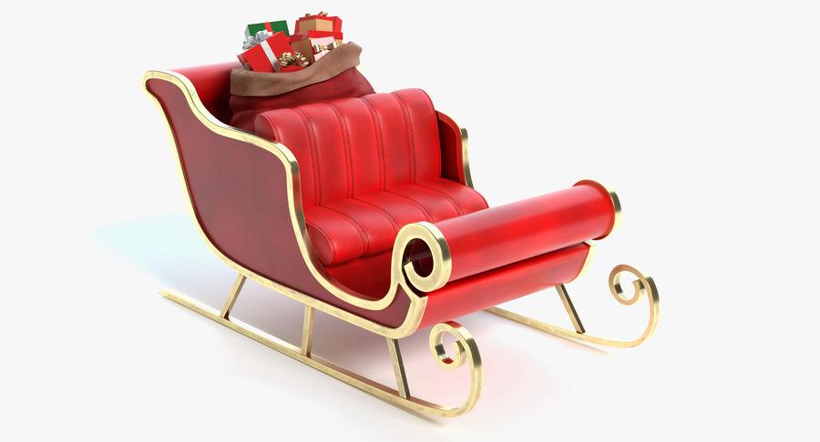 Santa Sleigh 2 royalty-free 3d model - Preview no. 2