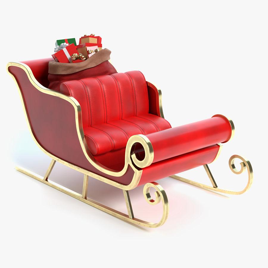 Santa Sleigh 2 royalty-free 3d model - Preview no. 1