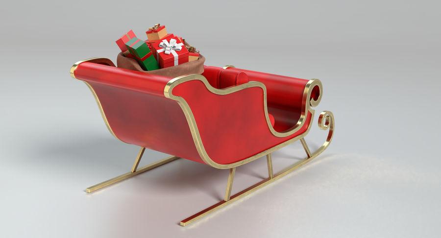 Santa Sleigh 2 royalty-free 3d model - Preview no. 6