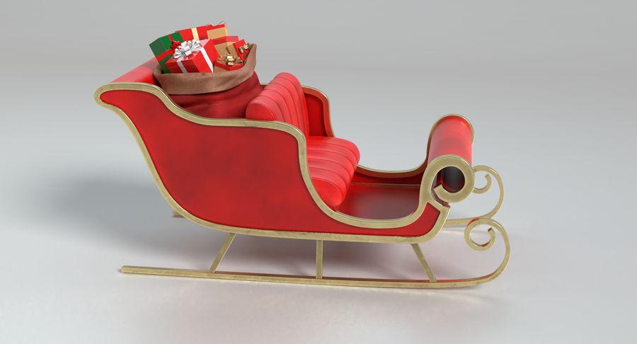 Santa Sleigh 2 royalty-free 3d model - Preview no. 5