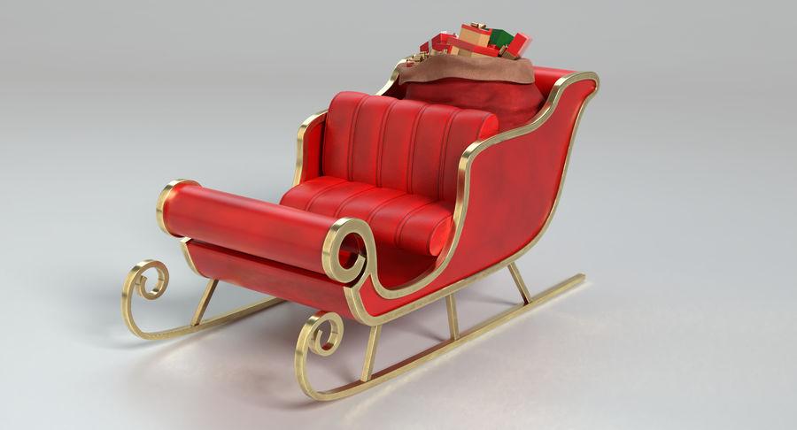 Santa Sleigh 2 royalty-free 3d model - Preview no. 9
