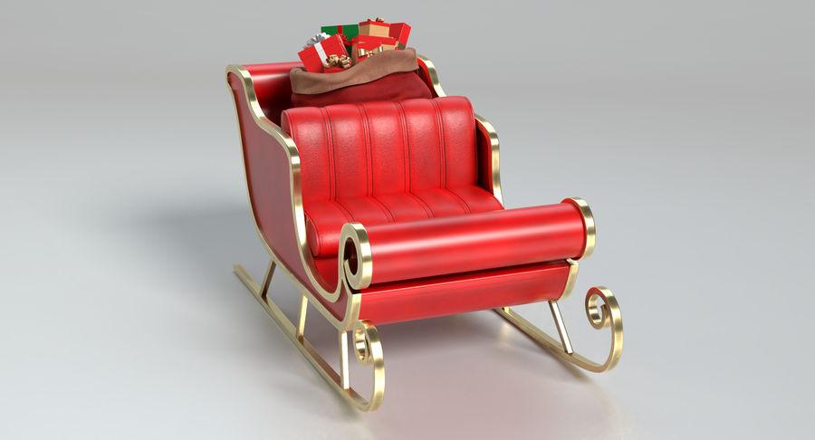 Santa Sleigh 2 royalty-free 3d model - Preview no. 10