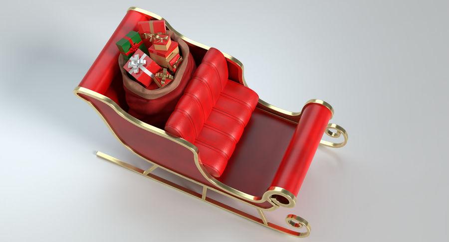 Santa Sleigh 2 royalty-free 3d model - Preview no. 4