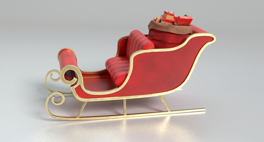 Santa Sleigh 2 royalty-free 3d model - Preview no. 8