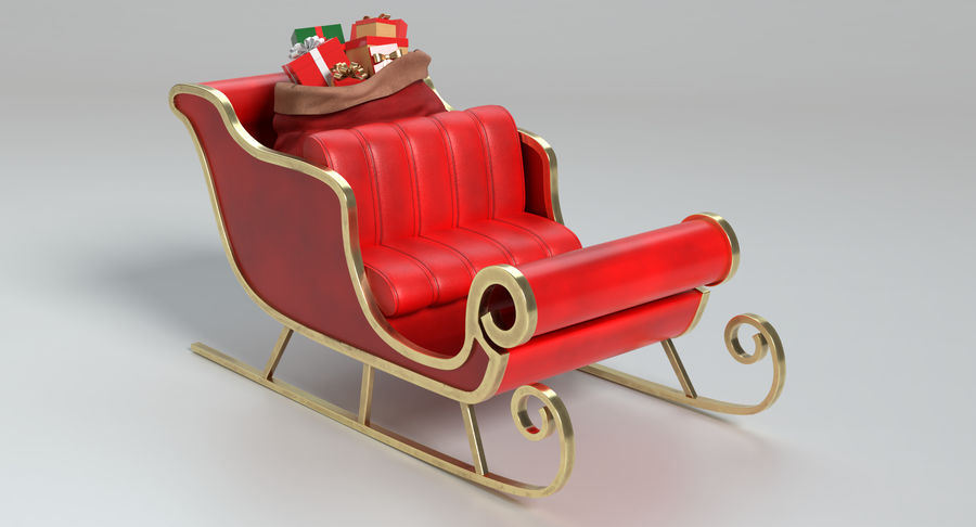 Santa Sleigh 2 royalty-free 3d model - Preview no. 3