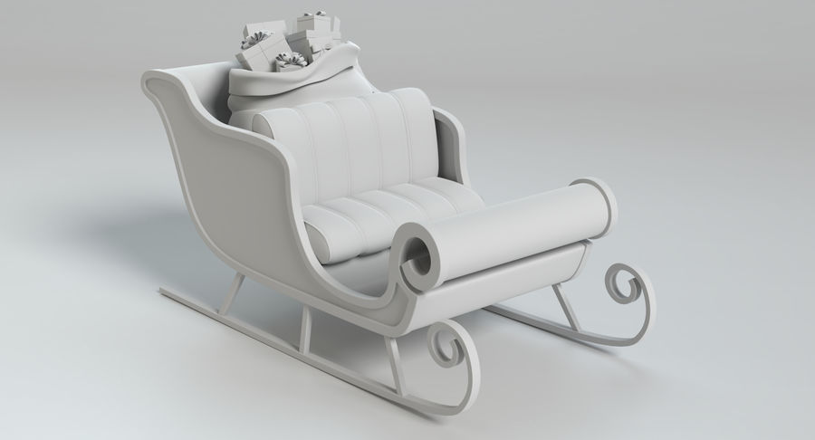 Santa Sleigh 2 royalty-free 3d model - Preview no. 11