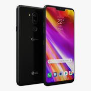 LG G7 ThinQニューオーロラブラック 3d model