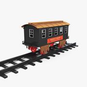 Игрушечный вагон с рельсами 3D модель 3d model