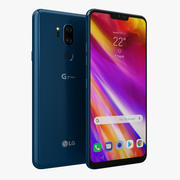 LG G7 ThinQ New Moroccan Blue 3d model