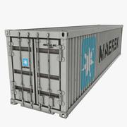 배송 컨테이너 Maersk White 3d model