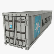 Shipping Container Maersk White 3d model