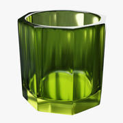 Irish Whiskey Glass Green 3d model