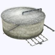 Réservoir de stockage de raffinerie 3d model
