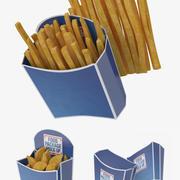 Frieten Verpakking 3 in 1 3d model