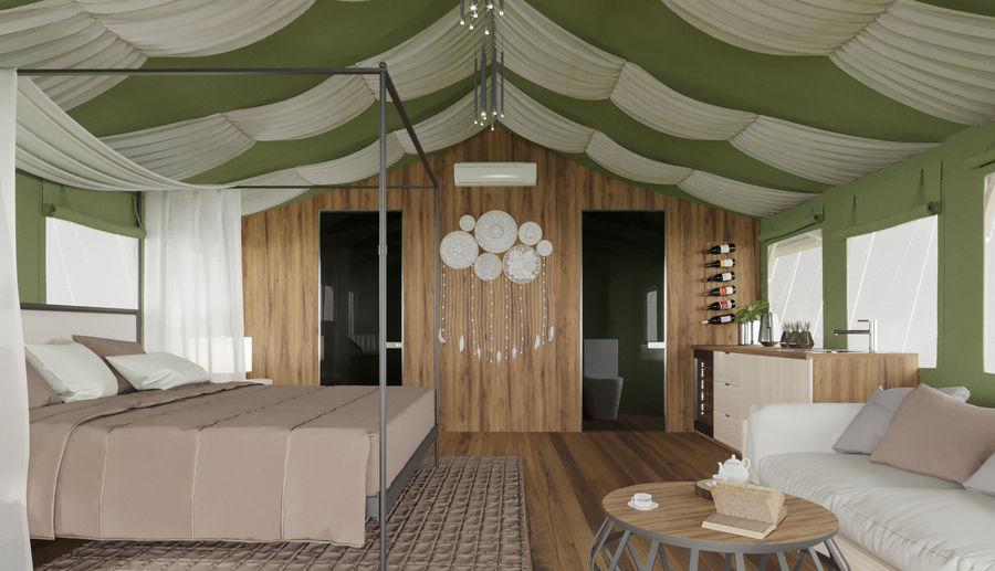 Tente royalty-free 3d model - Preview no. 7